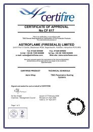 CERTIFICATE OF APPROVAL No CF 617 ASTROFLAME ... - Safelincs