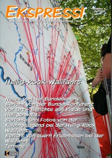 Heilig-Rock Wallfahrt Heilig-Rock-Wallfahrt - Kolpingjugend DV Trier