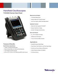 Handheld Oscilloscopes - THS3000 Series - Tektronix
