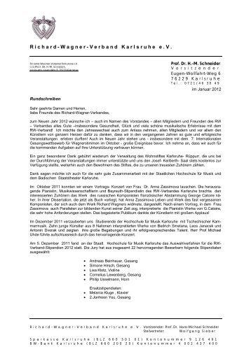 Januar 2012 - Richard Wagner Verband Karlsruhe eV