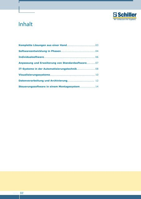 Prospekt Software Engineering - schiller-gruppe.de