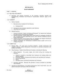 SECTION 08710 DOOR HARDWARE PART 1 - GENERAL 1.01 ...