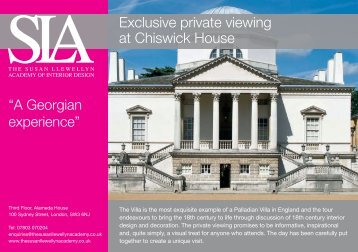 Exclusive private viewing at Chiswick House - The Susan Llewellyn ...