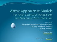 Active Appearance Models for Facial Expression ... - ISR-Coimbra