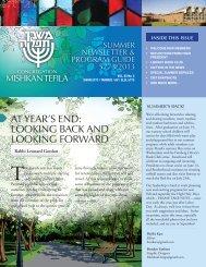 June/July/August 2013 - Congregation Mishkan Tefila