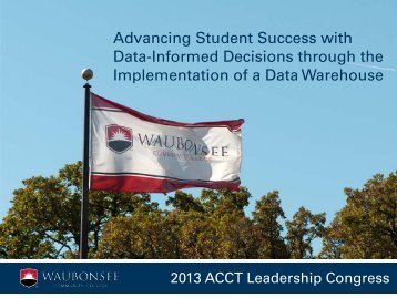 Advancing Student Success with Data-Informed Decisions ... - ACCT