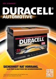 Sicherheitsdatenblatt (deutsch) - DURACELL Automotive