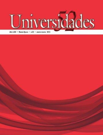 Revista Universidades Número 52, Enero - Marzo de 2011 - udual