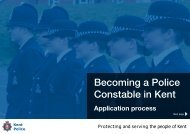 Becoming a Police Constable in Kent - Kent Police