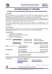 INFORMATIONSBLATT IWS/SWM - Schweißtechnische Zentralanstalt