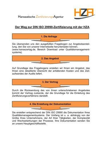 Der Weg Zur Din 77200 Zertifizierung Mit Der Hza Hanseatische