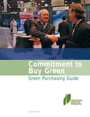 The Green Purchasing Guide - Partners in Project Green