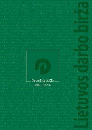 Darbo rinka skaičias 2003 - 2007 m. - Lietuvos darbo birža