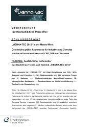 """""""VIENNA-TEC 2012"""" in der Messe Wien"""