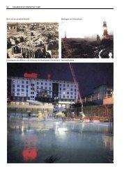 Blick auf die zerstörte Altstadt Baubeginn am Ulrichshaus - Magdeburg