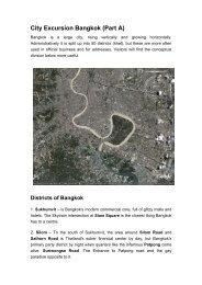 City Excursion Bangkok (Part A) - Forum for Urban Future in ...