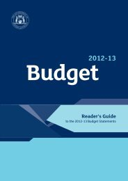 Readers Guide to the 2012-13 Budget Statements - Department of ...