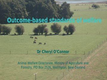 Outcome based standards of welfare