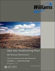 Williams Opal - Warehouse IFC Spec - Vol 1 - A Pleasant Construction