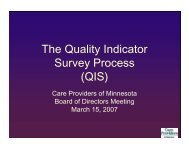 QIS - Care Providers of Minnesota