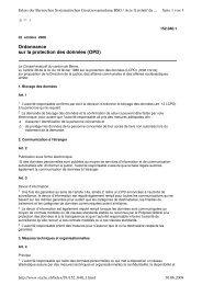 Ordonnance sur la protection des données (OPD)