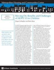 Moving On: Benefits and Challenges of HOPE VI ... - HartfordInfo.org