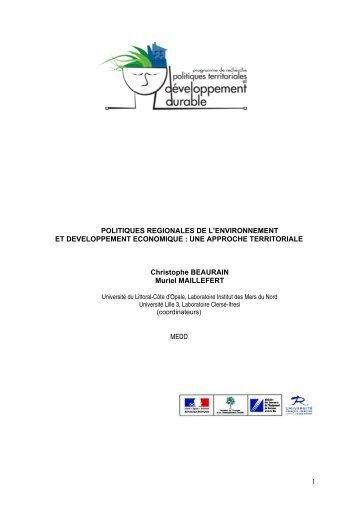 Plan Gnral PREDAT - Politiques territoriales et développement ...