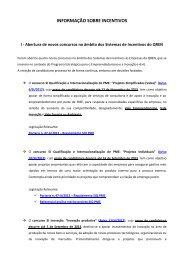 QREN - Sistemas de Incentivos: Abertura de quatro novos ... - AEP