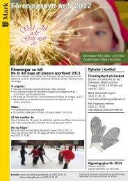 Föreningsnytt nr 5 2012 - Marks kommun