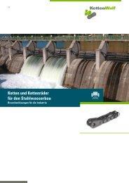 Ketten und Kettenräder für den Stahlwasserbau - KettenWulf