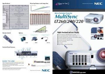 LT220g Brochure - Projectisle