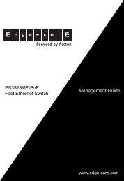 ES3528MF-PoE - Edge-Core