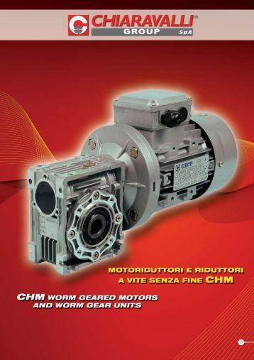 motoriduttori e riduttori a vite senza fine chm - Tecnica Industriale Srl