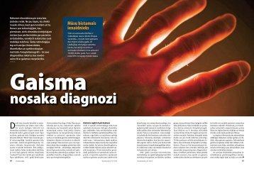 Gaisma nosaka diagnozi. Žurnāls Ilustrētā Zinātne, 2010.g. maijs, 64 ...
