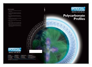Polycarbonate Profiles - Polygal