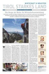 Die Berge als Motor für Wirtschaftsentwicklung