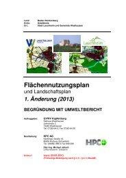Änderung Begründung und Umweltbericht - Westhausen