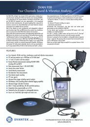 SVAN 958 Four Channels Sound & Vibration Analyser