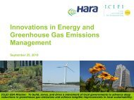 Innovations in Energy and Greenhouse Gas Emissions Management