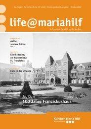 St. Franziskus, Maria Hilf und St. Kamillus - Kliniken Maria  Hilf GmbH