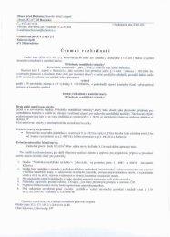 Územní rozhodnutí o umístění stavby - Obec Hodonice