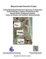 Massachusetts Estuaries Project Linked ... - Town Of Orleans