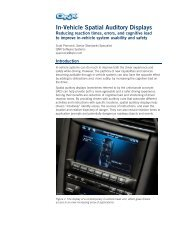 In-Vehicle Spatial Auditory Displays - we.CONECT