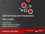 Red Hat Cloud and Virtualization How to Sell