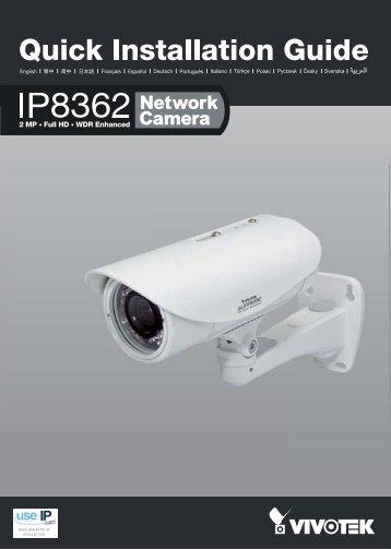 Vivotek IP8362 Network Bullet Camera Installation Guide - Use-IP