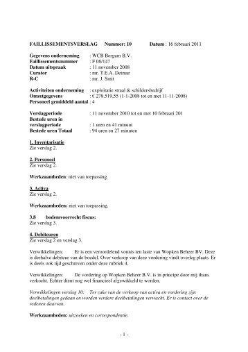 verslag 11 november 2010 tot en met 10 februari 2011 (pdf; 35 KB)