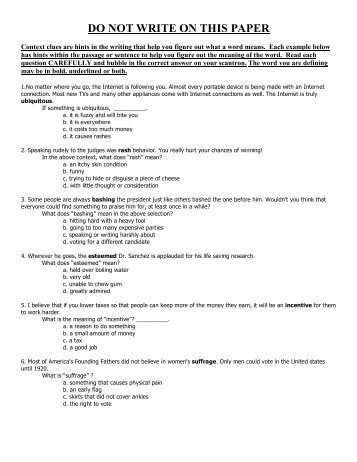 math worksheet : compmetrica multiple choice in basket exercise  holo com  : Context Clues Worksheets Multiple Choice