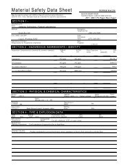 Material Safety Data Sheet - Chief Supply