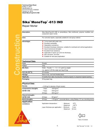 Sika MonoTop-613 IND - Sika Indonesia