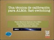 Una técnica de calibración para ALMA: fast-switching